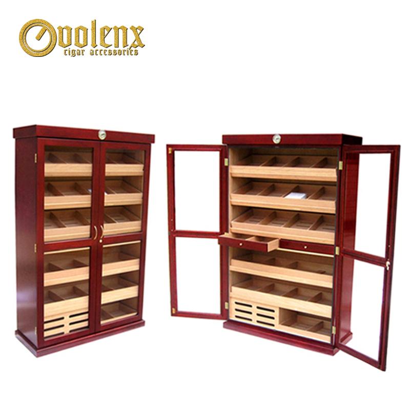 Mahogany-large-wooden-storage-cabinets-locking-wood
