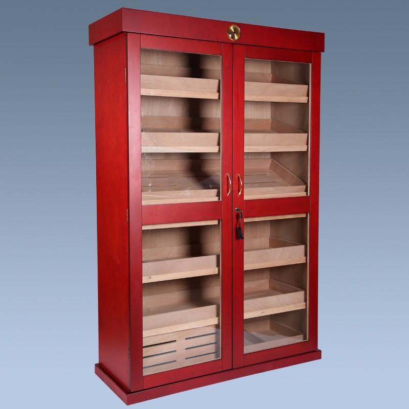 Mahogany Large Wooden Storage Cabinets Locking Wood Cigar Cabinets 6
