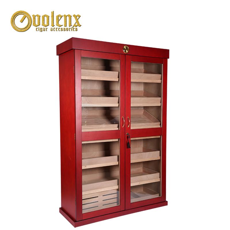 Wholesale-Two-Glass-Door-Wooden-Cigar-Cabinet