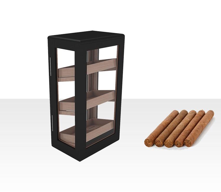Electrical Matt Finished Mohagony Wood Display Cigar Cabinet 11