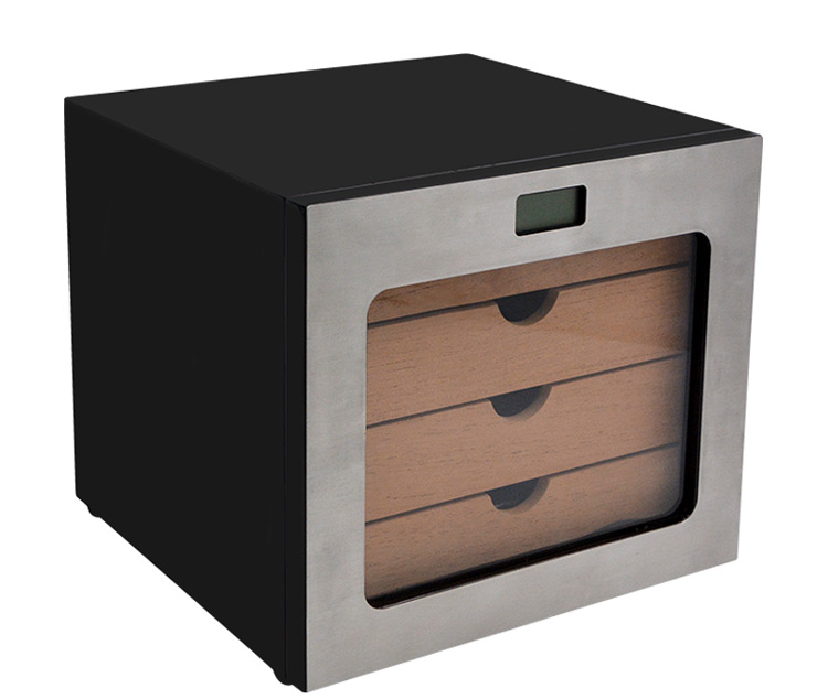 Metallic texture cigar cabinets for sale WLHC-0050 Details