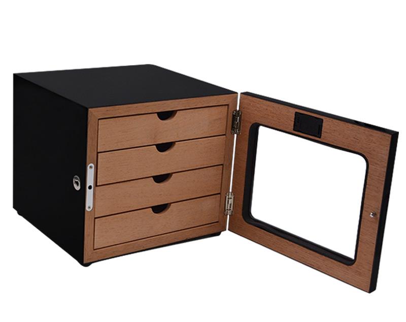 Premium Grade 300 capacity mini cigar cabinets humidors with 4 drawer 7