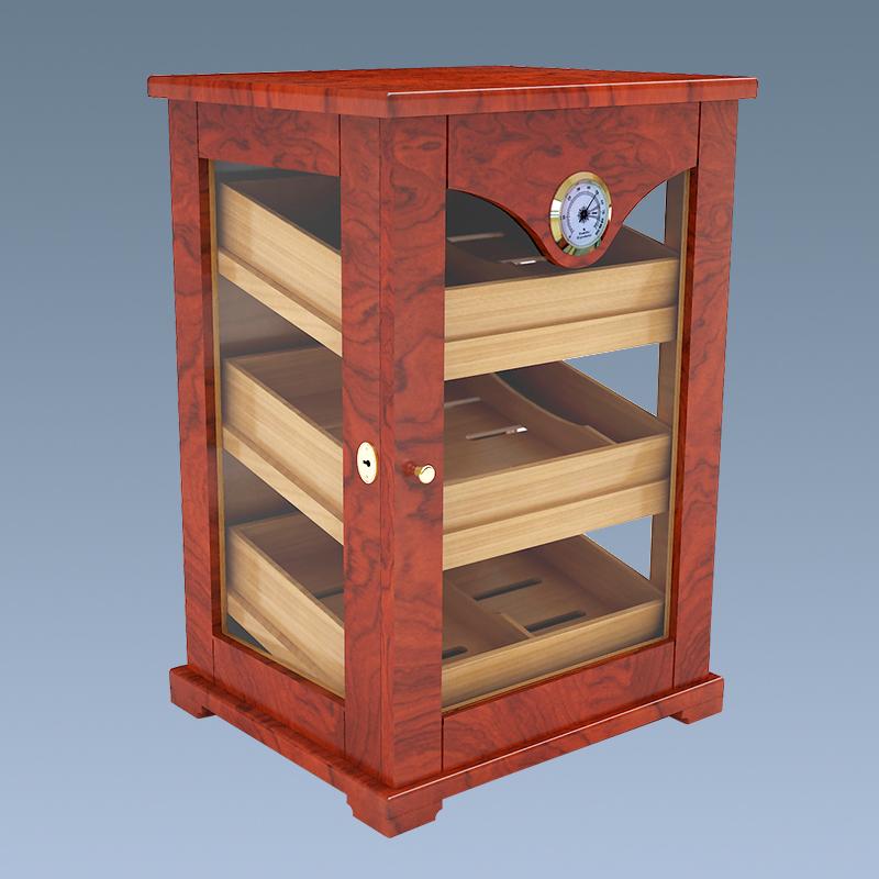 Wholesale Cigar Humidor Wooden Cedar Cabinet Small Cigar Humidor