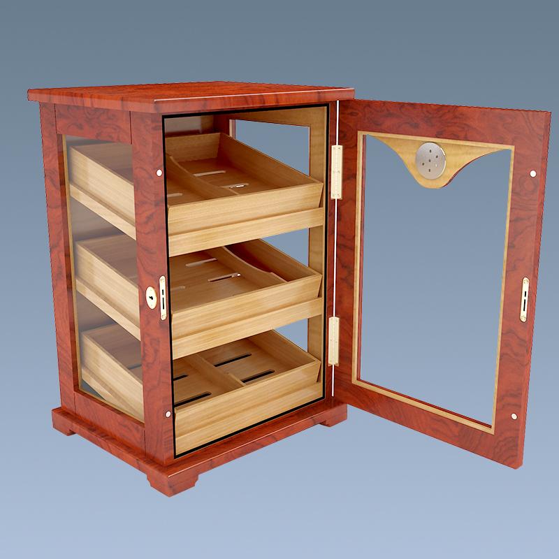 Wholesale Cigar Humidor Wooden Cedar Cabinet Small Cigar Humidor 5