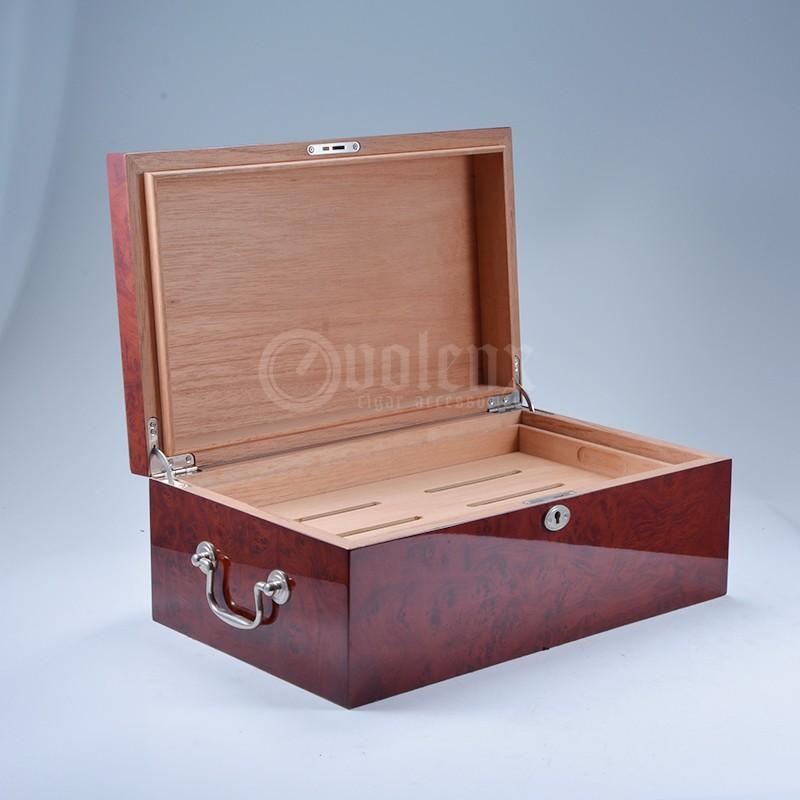 2017 cedar wood 4CT cutter set wholesale leather cigar humidor 19