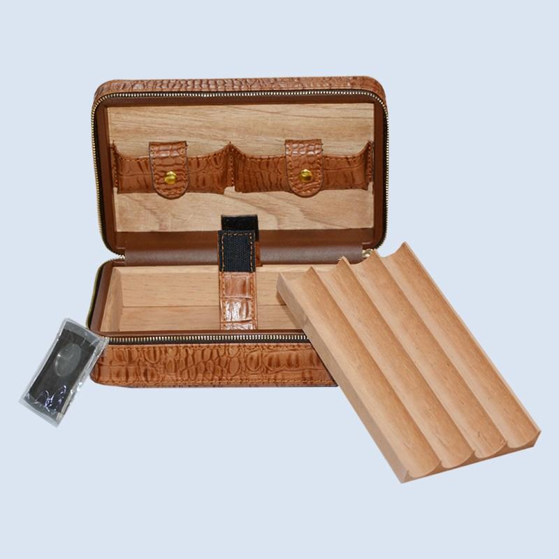 Volenx luxury Leather travel humidor cigars humidors set 9