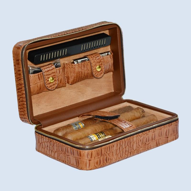Volenx luxury Leather travel humidor cigars humidors set 7