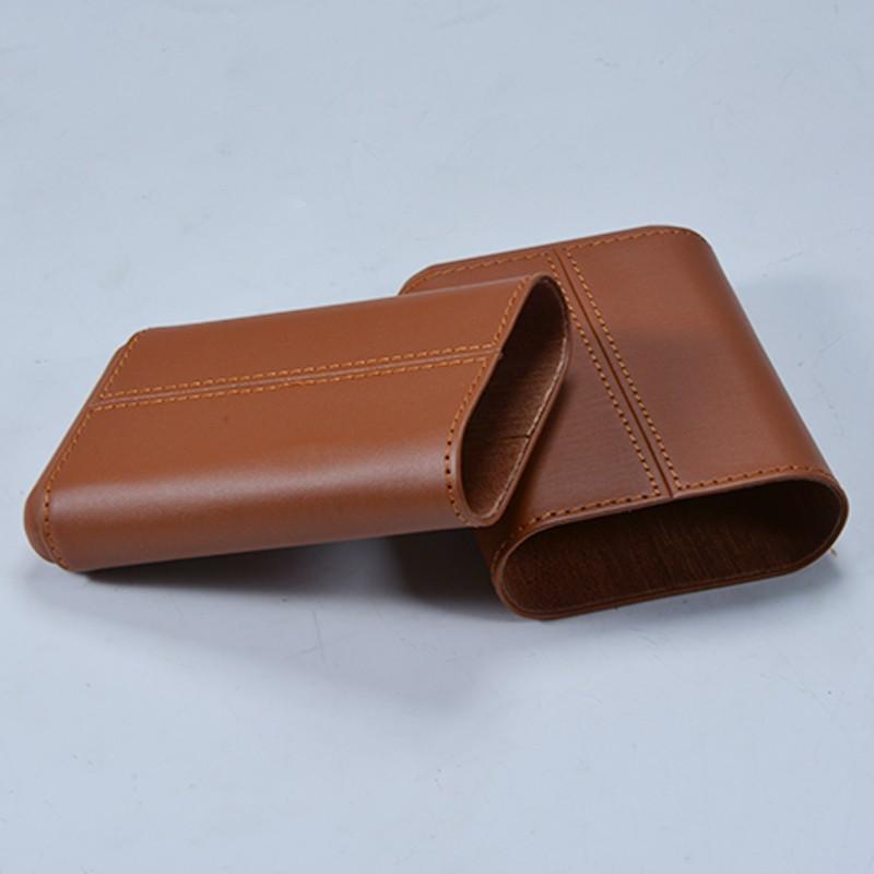 Weilongxin custom pocket leather cigar case 7
