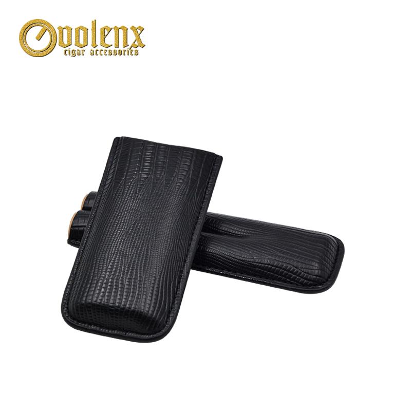 Premium-quality-black-leather-cigar-holder-custom