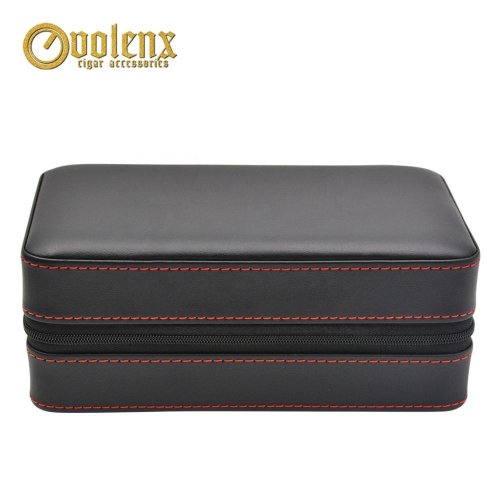 Wholesale-Travel-6CT-Black-Leather-Cigar-Case