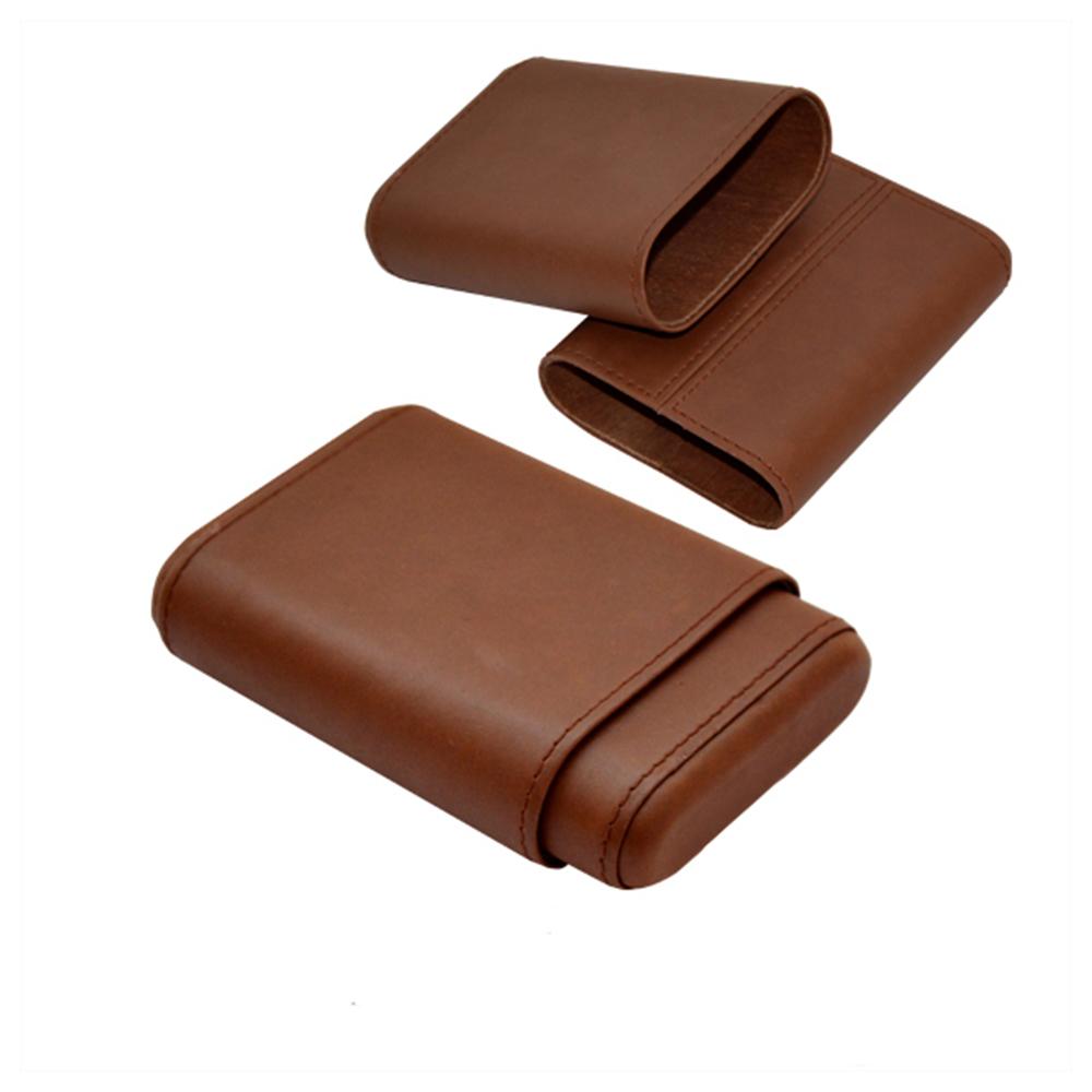 Wholesale Leather Mini 3 Cigar Case
