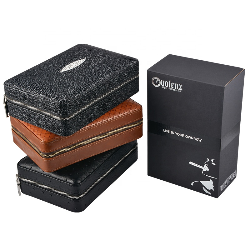 Wholesale-4-CT-Black-Leather-Travel-Cigar
