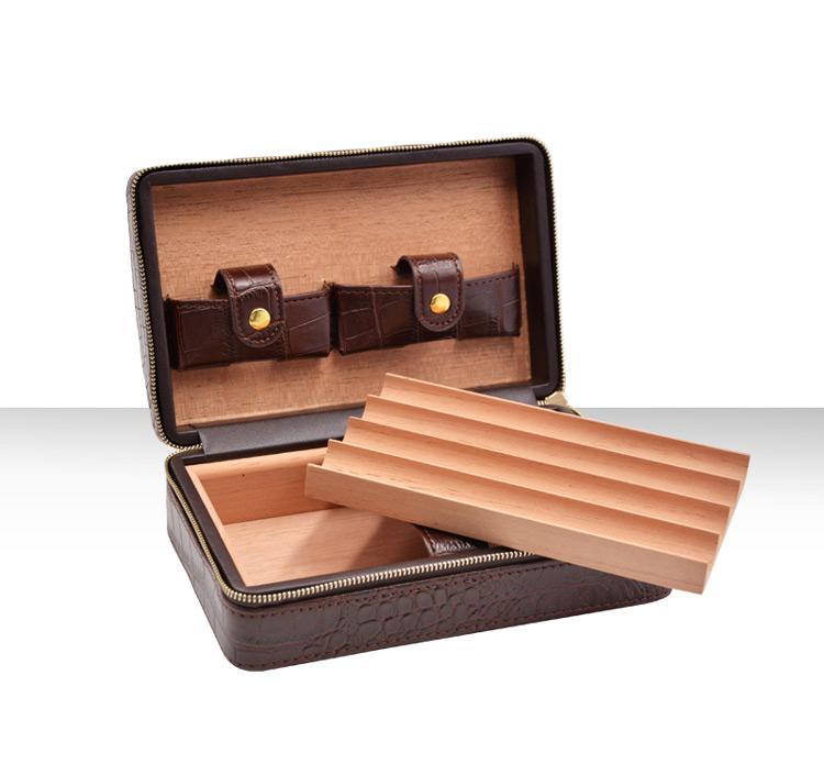 cigar case brown WLH-0285 Details 5