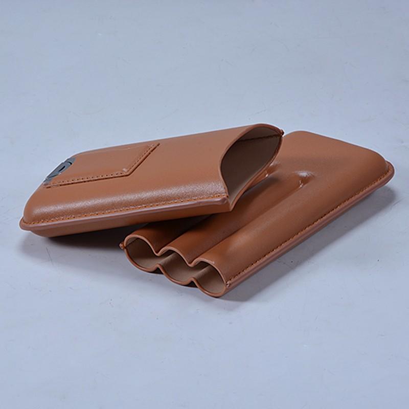Wholesale Mini Leather Travel Cigar Humidor Case 3