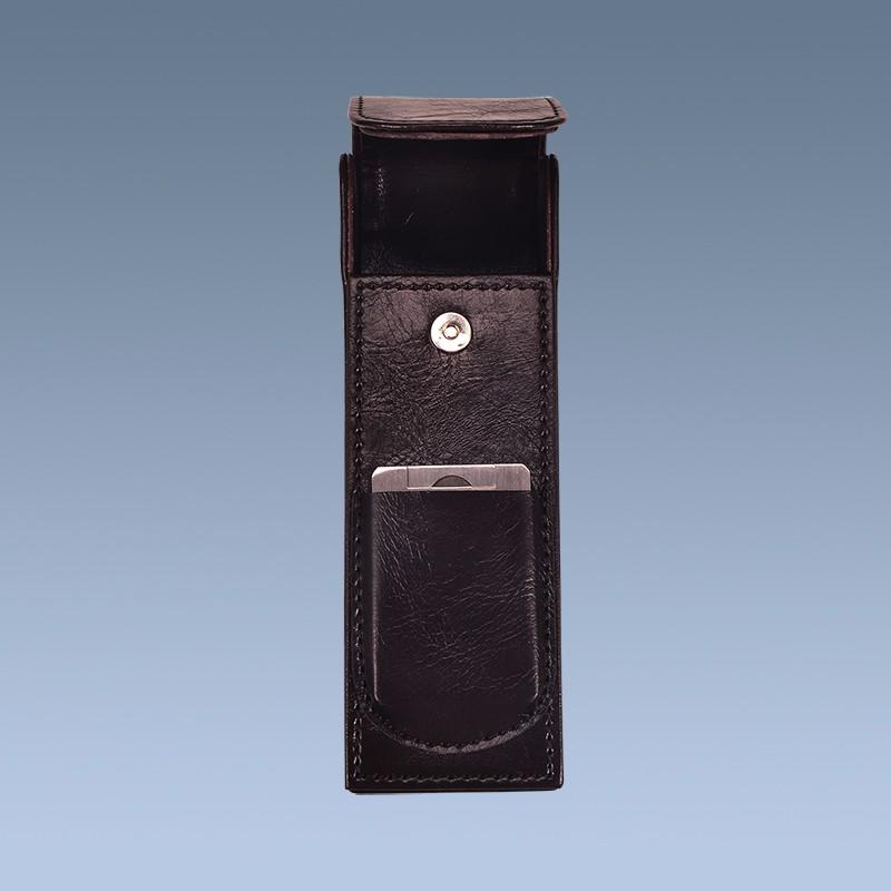 Handmade Custom Leather Cigar Case With Cigar Cutter