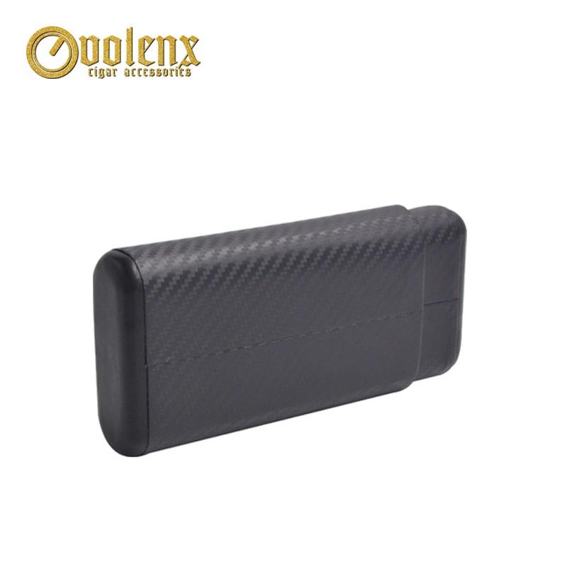 Carbon fiber travel cedar cigar case 3 fingers cigar accessories 13
