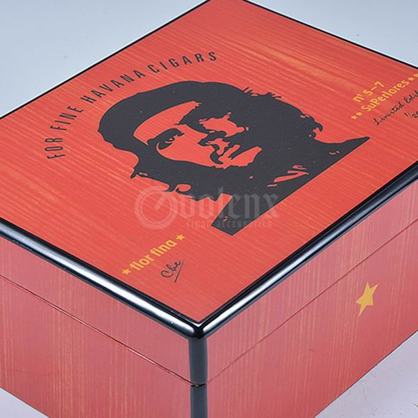 High end 50ct cigar box custom cigar wooden box printed cuban humidors