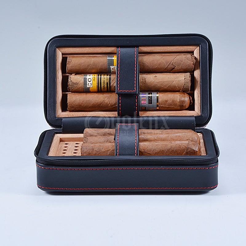 High end luxury handmade creative travel leather cigar humidor 7