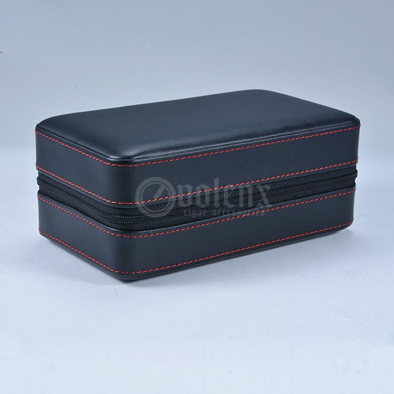 2019 New design Black Leather Travel humidor 3