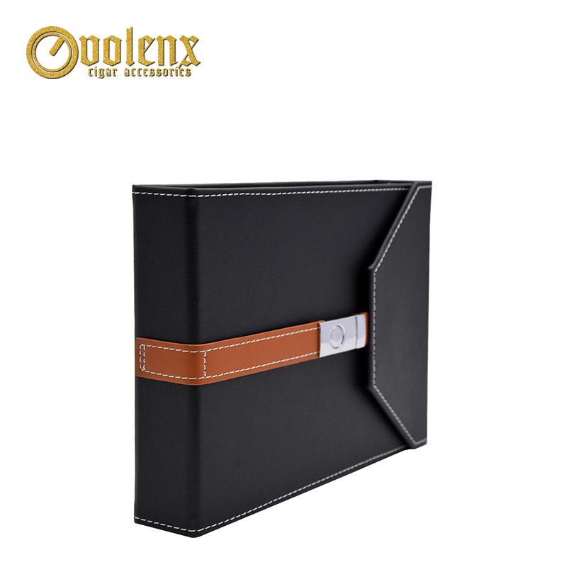Handmade-Black-Cigar-Box-Humidor-Leather-Travel