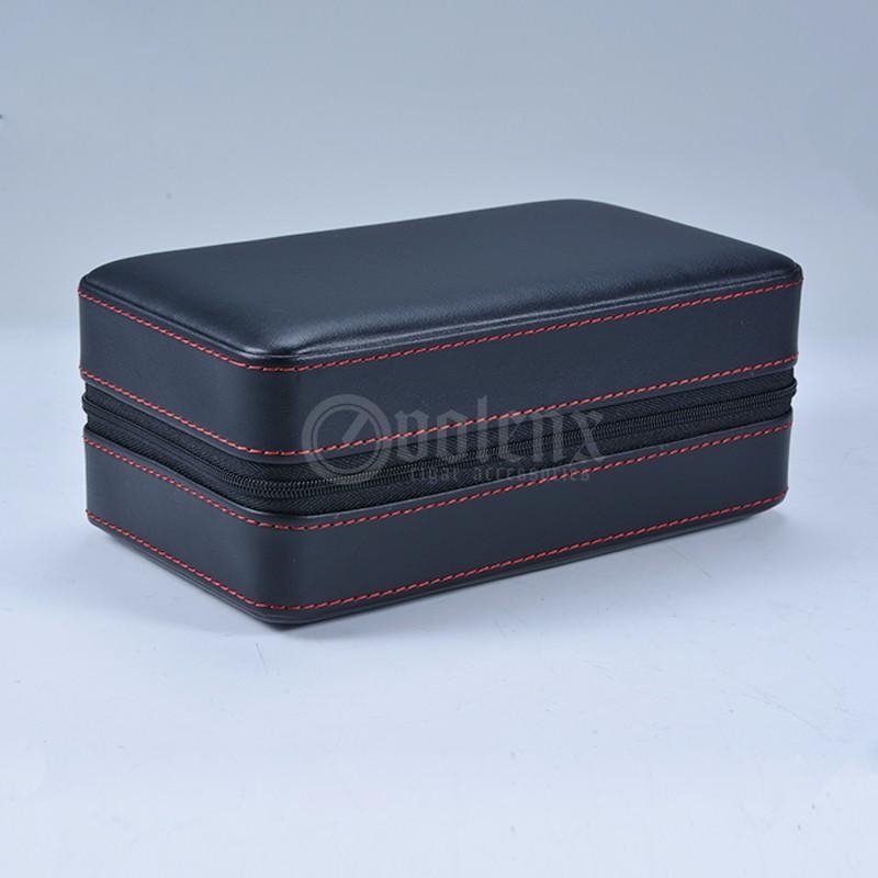 Factory-Custom-Leather-Black-Travel-Cigar-Humidor