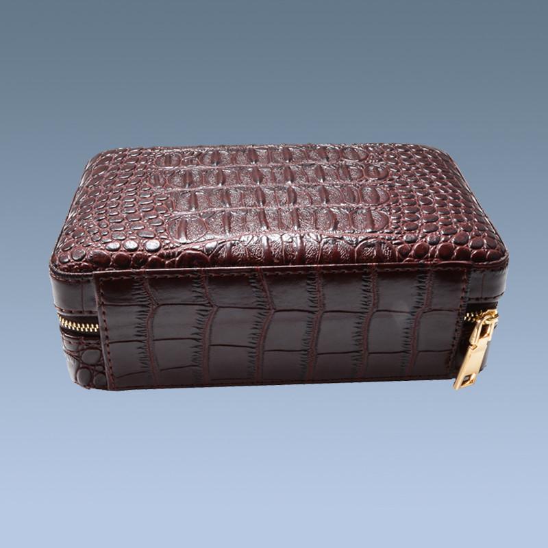 Cheap Cigar Gift Set 5 Cigars Brown Travel Cigar Cases