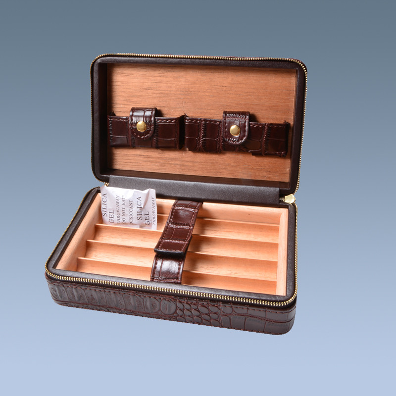 High Quality cigar cases engraved 5