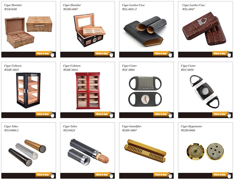 Hot sale custom logo travel cigar leather case humidor 15