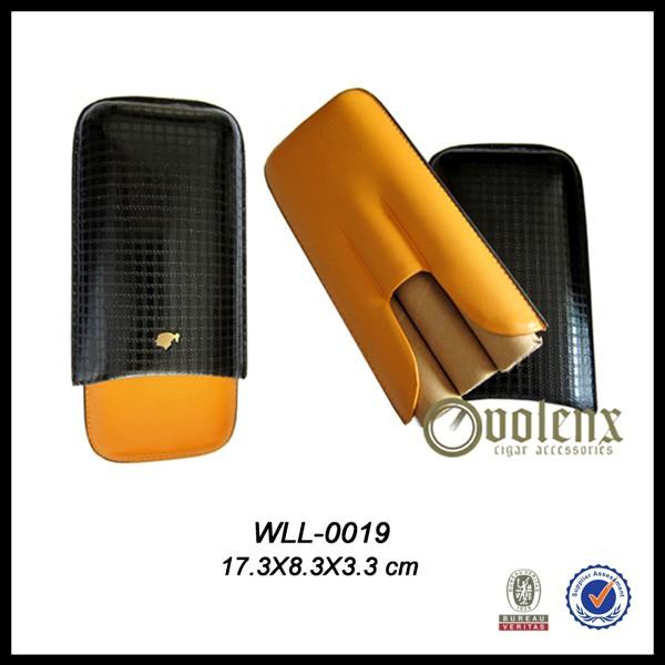 Custom Travel Leather 3 Cigar case