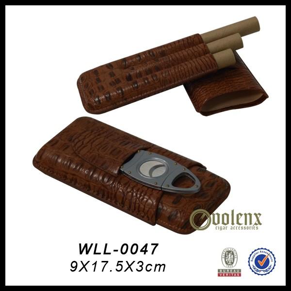 High Quality Luxury Leather Cigar Case