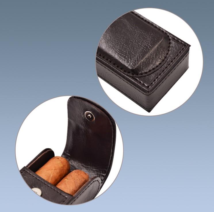 Wholesale Mini Leather Cigar Travel Case