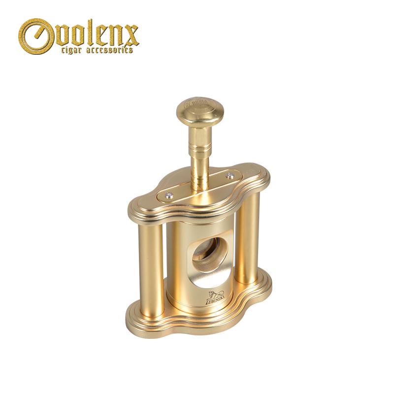 Luxury golden color diameter 22mm desktop guillotine cigar cutter 3