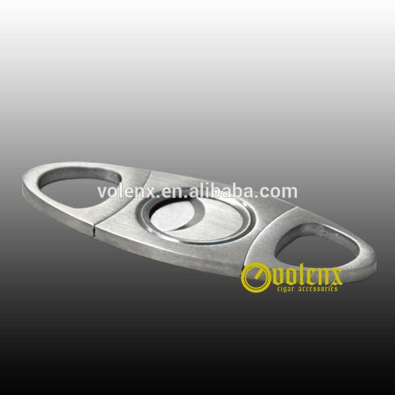 Laser custom logo Stainless Steel sharp cigar cutter