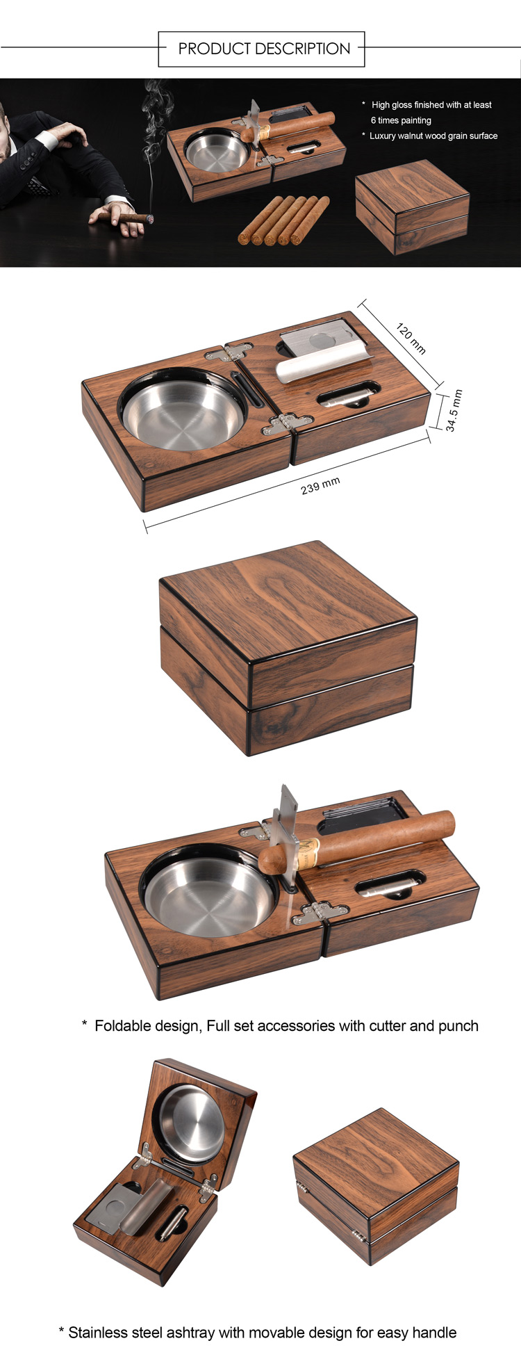 Cigar Ashtray Set