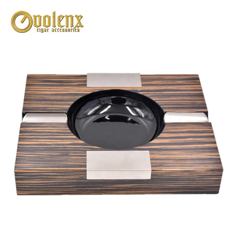 Unique Pocket Squares Wooden Cigar Ash Tray