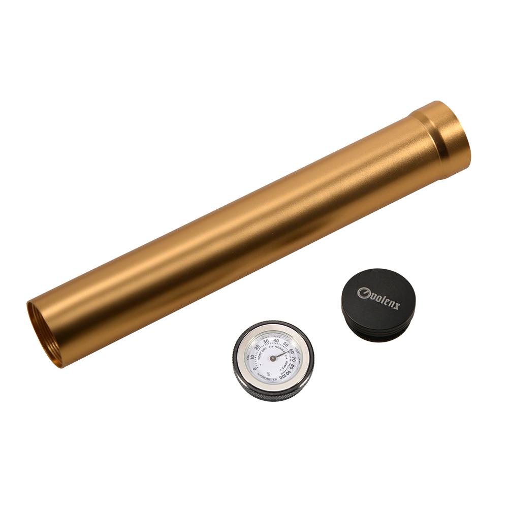 Temperature and humidity control custom logo wholesale cigar mini aluminum tube