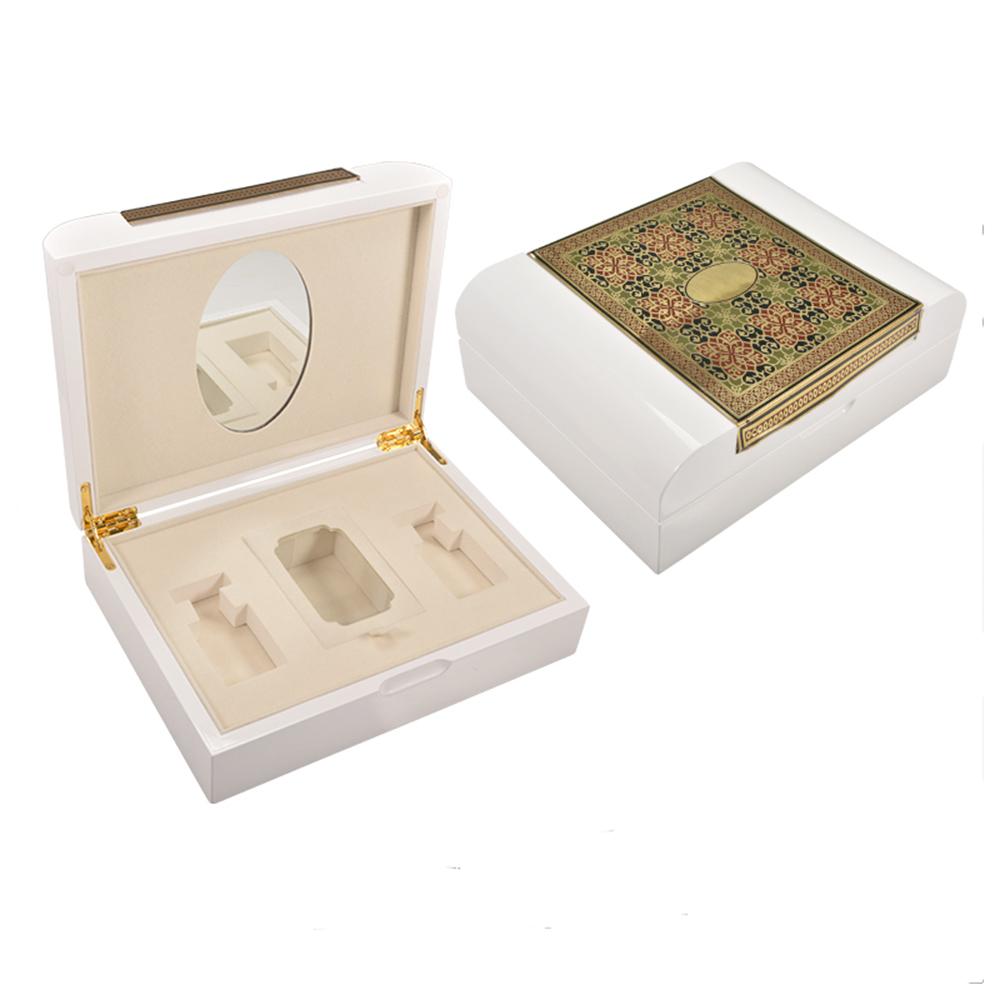 Custom White Wooden Dubai Jewellery Gift Box