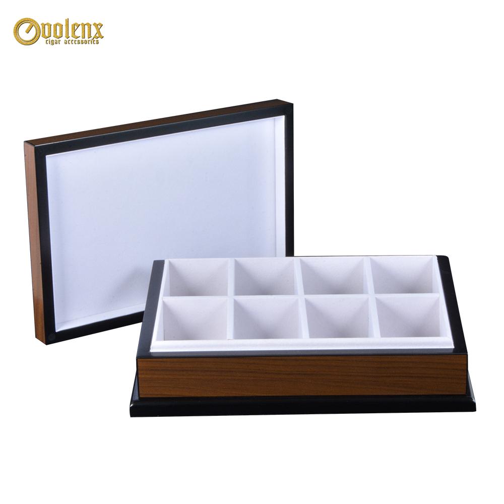 Hot Sale Custom Luxury Wooden Tea Box With  White Velvet