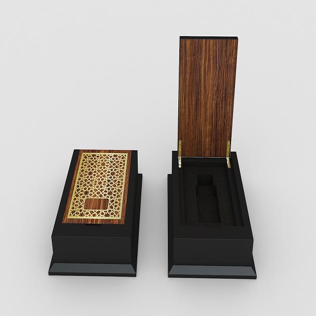 New Design Wooden Single Luxury Perfume Packaging Box