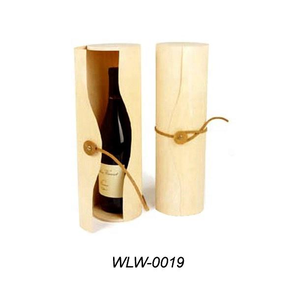 Handmade Round Elegant Pine Wood Wine Package
