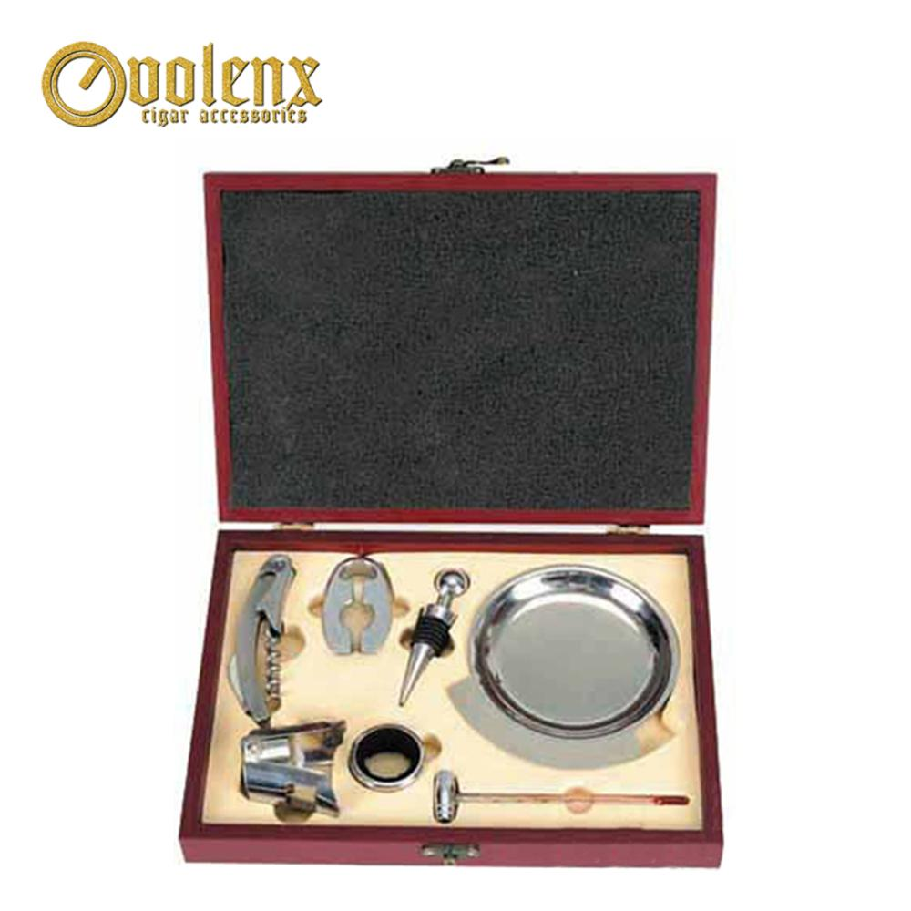 Good Quality Promotional China Wine Accessories Gift Set in Leather Box