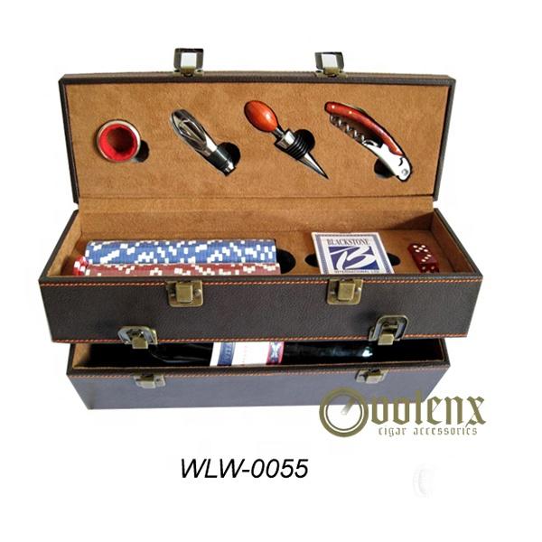 Wholesale Custom Luxury Leather Gift Wine Box For Bar Sets
