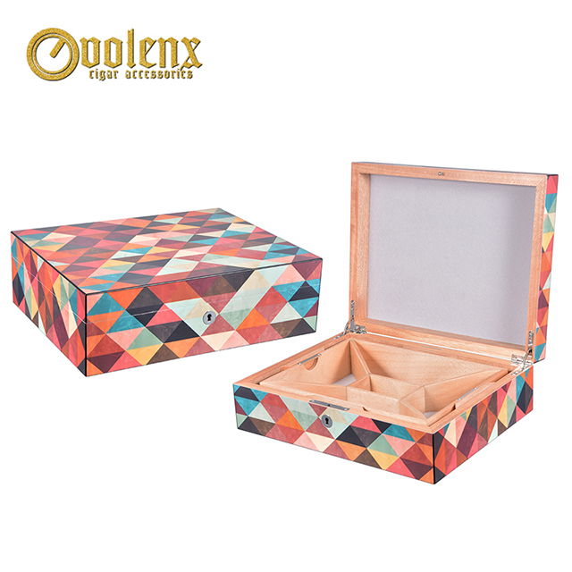 Custom Wooden Colorful Gift Jewelry Packaging Box