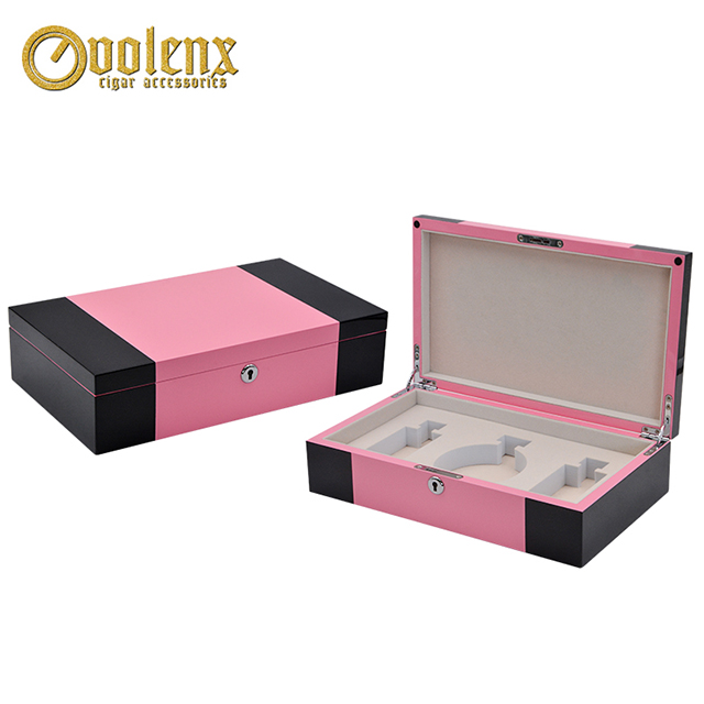 Custom Pink Wooden Luxury Perfume Packaging Box
