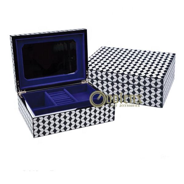 Luxury Handmade Custom Logo Printed Wooden Jewelry Gift Box for Sale