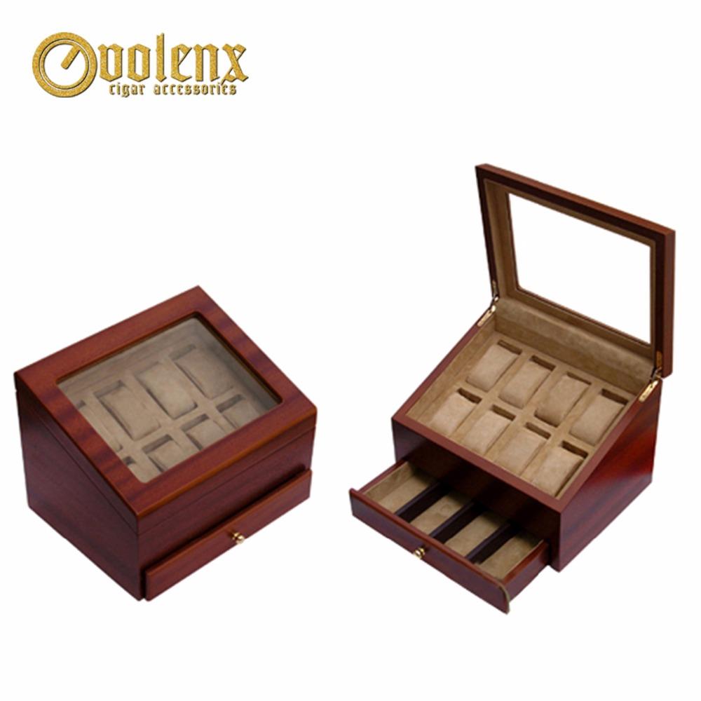 custom Luxury table perspex jewelry box with lock
