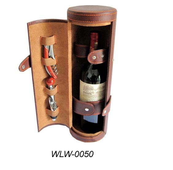 Custom wood + leather wine box