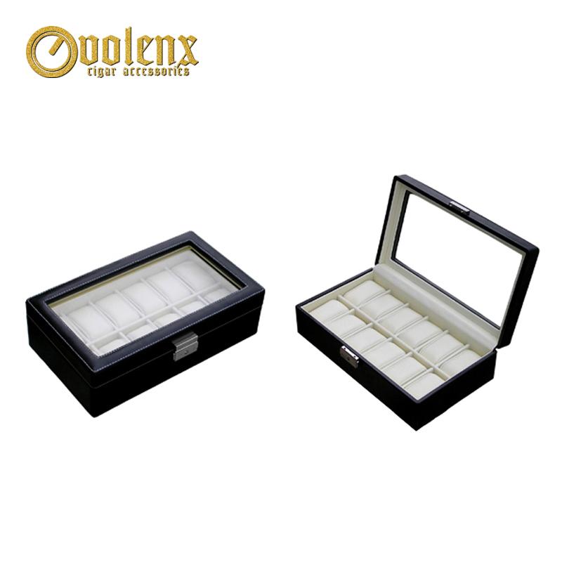 Custom Wooden Luxury Leather Watch Storage Box