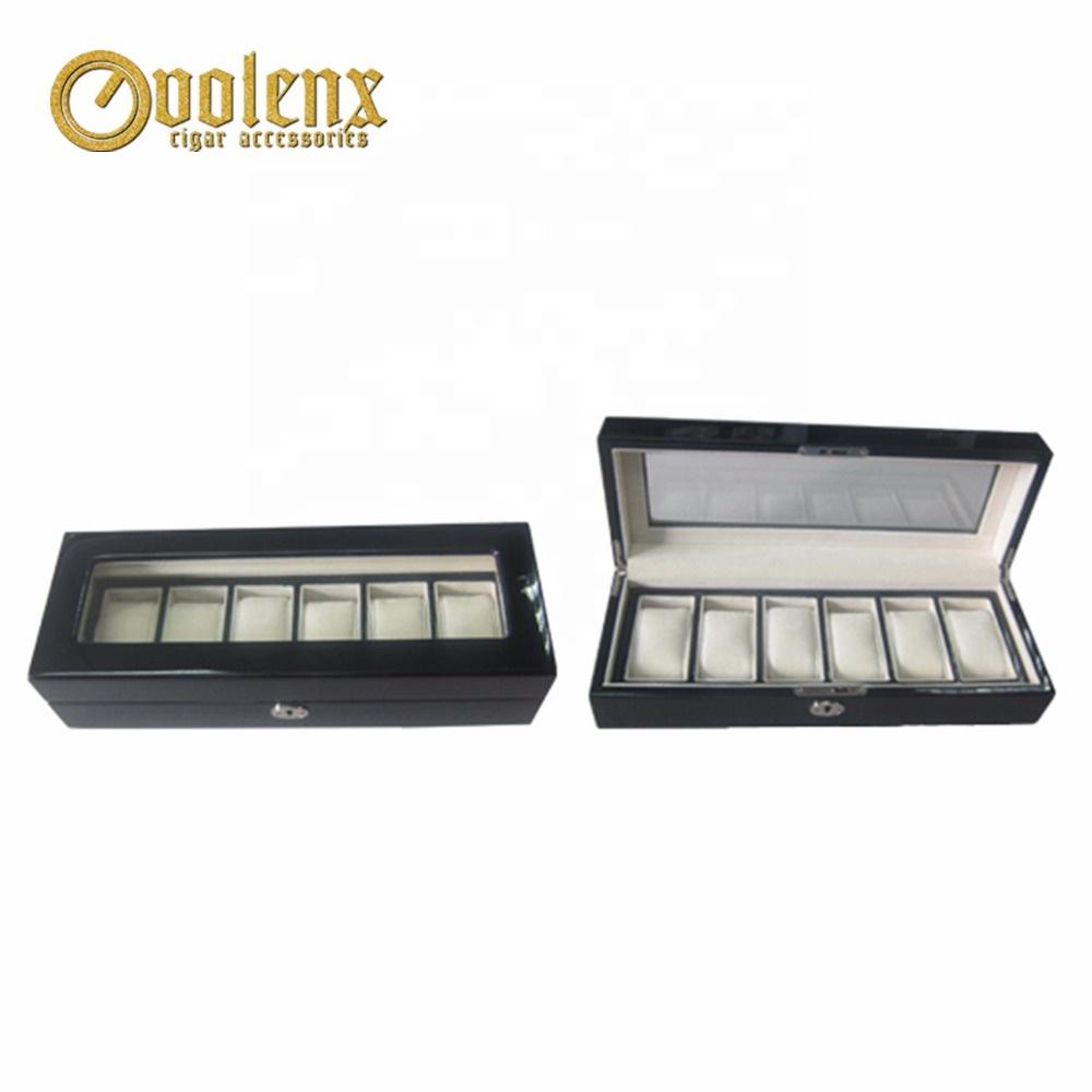 Shenzhen Volenx Custom Made Wooden Watch Box with 6 Compartment