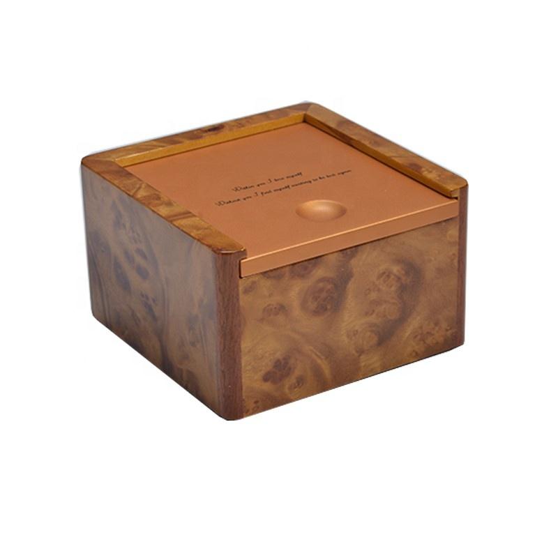 Custom set inner carbon fiber leather wooden jewelry box